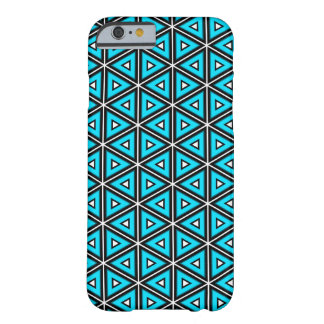 Pretty Square White, Black and Turquoise Pattern Barely There iPhone 6 Case