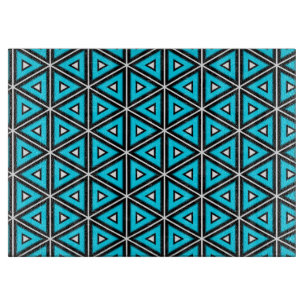 Pretty Square White, Black and Turquoise Pattern Cutting Board