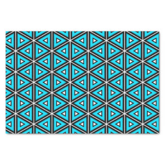 Pretty Square White, Black and Turquoise Pattern Tissue Paper