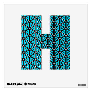 Pretty Square White, Black and Turquoise Pattern Wall Sticker