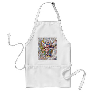 Pretty Stained Glass  Guardian Angel Standard Apron