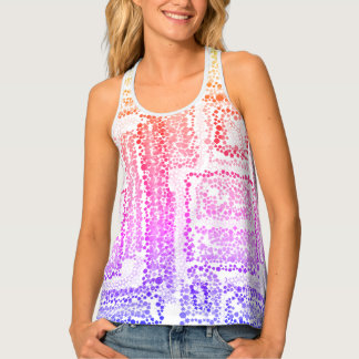 Pretty stars shapes patterns print all over tank