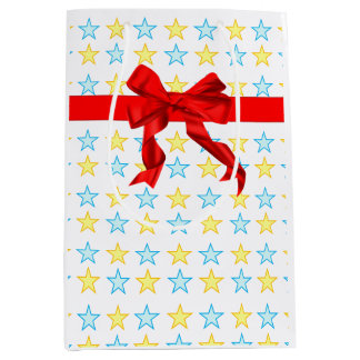 Pretty stock market with yellow and celestial medium gift bag