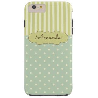 Pretty Stripes & Polka Dot Personalized Phone Case