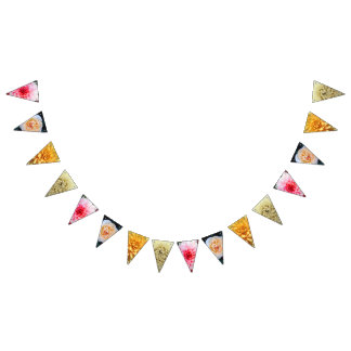 """PRETTY SUMMER FLOWERS"" BUNTING FLAGS"