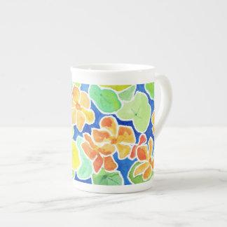 Pretty Summer Garden Bone China Coffee Mug Porcelain Mugs