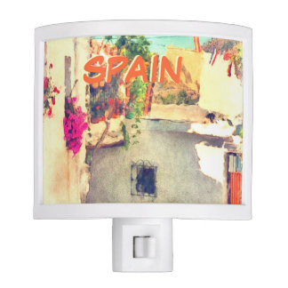 Pretty summer view of an alley Spain Night Light