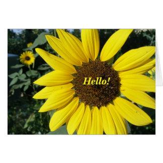 Pretty Sunflower Card