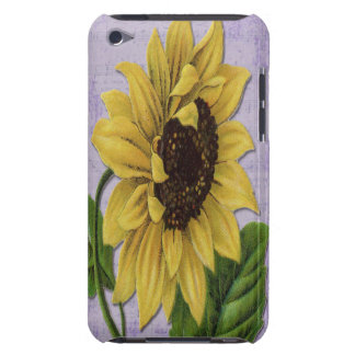 Pretty Sunflower On Sheet Music iPod Touch Case