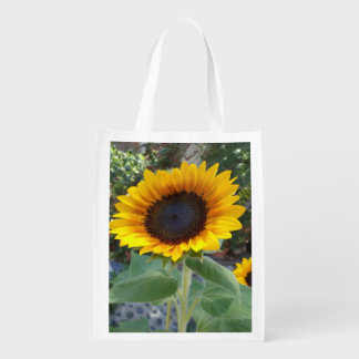 Pretty Sunflower Reusable Grocery Bag