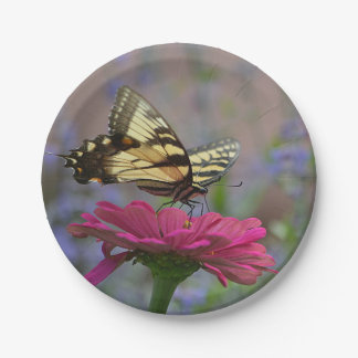 Pretty Swallowtail Butterfly Paper Plate