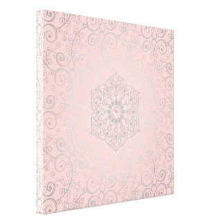 Pretty Swirled Romantic Mandala Pattern | Canvas