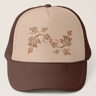Pretty Swirling Autumn Leaves Trucker Hat