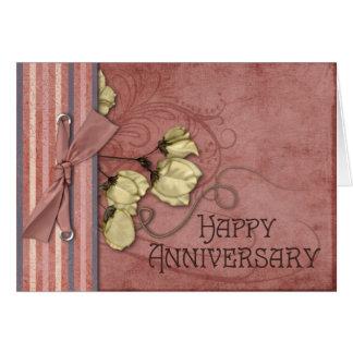Pretty Swirls Anniversary Card