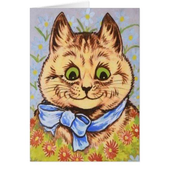 Pretty Tabby Cat Card