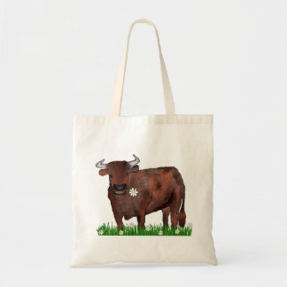 Pretty Taurus Bull And Daisies Zodiac Bag