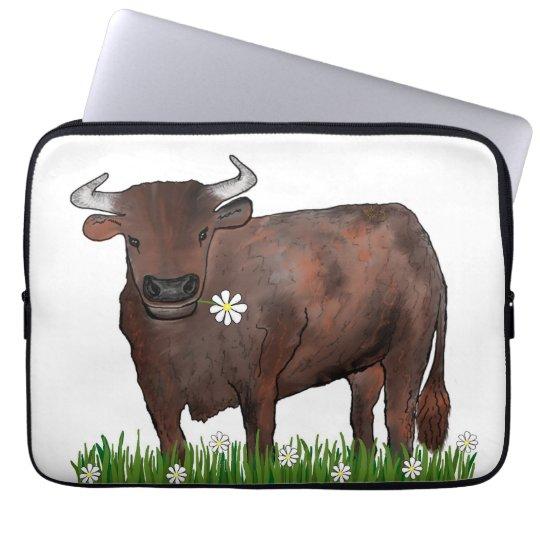 Pretty Taurus Bull And Daisies Zodiac Laptop Case Laptop Computer Sleeves