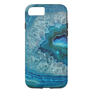 Pretty Teal Aqua Turquoise Geode Marble Pattern Case-Mate iPhone Case