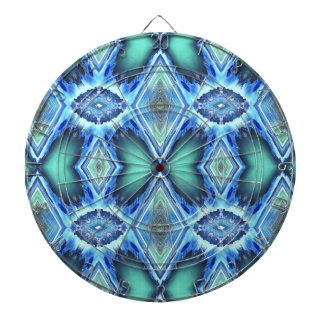 Pretty  Teal Blue Green Pattern Dartboard