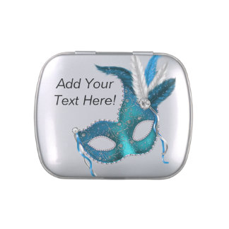 Pretty Teal Blue Masquerade Party Candy