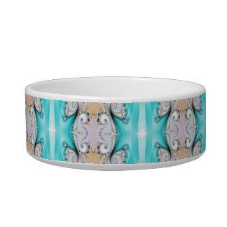 Pretty teal kaleidoscope print pet bowl