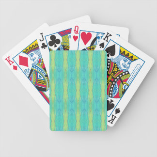 Pretty Teal Lemon Lime Modern Pattern Bicycle Playing Cards