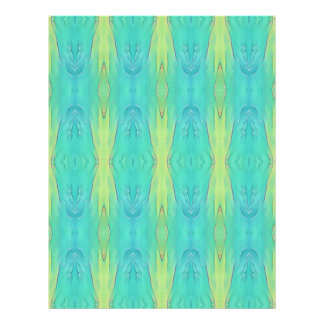 Pretty Teal Lemon Lime Modern Pattern Letterhead
