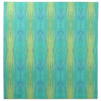 Pretty Teal Lemon Lime Modern Pattern Napkin
