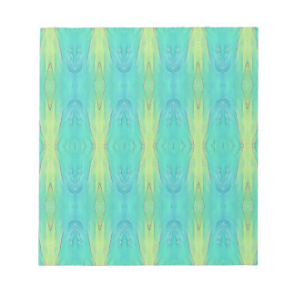 Pretty Teal Lemon Lime Modern Pattern Notepad