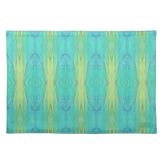 Pretty Teal Lemon Lime Modern Pattern Placemat