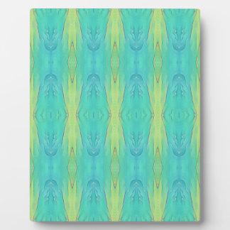 Pretty Teal Lemon Lime Modern Pattern Plaque