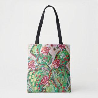 Pretty tote back/ cactus tote bag/ southwest tote