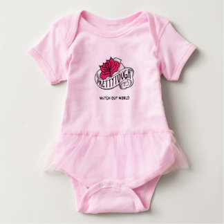 Pretty Tough: Watch Out World Baby Bodysuit