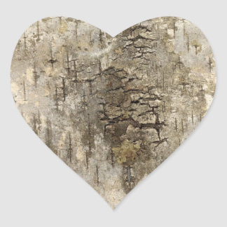 Pretty Tree Bark Heart Sticker