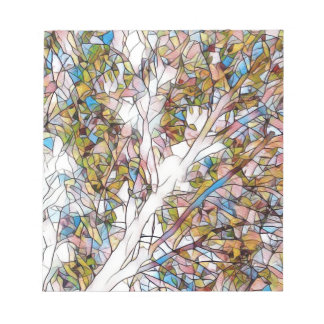 Pretty Tree Of Life Stained Glass Photomanipulatio Notepad
