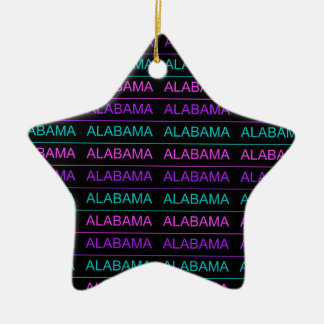 Pretty Tri-Colored Alabama Ceramic Star Ornament
