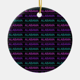 Pretty Tri-Colored Alabama Round Ceramic Ornament