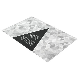 Pretty Triangle grunge Pattern II + your ideas Doormat