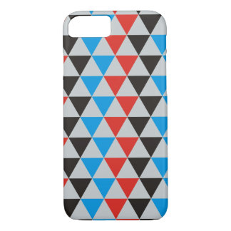 Pretty Triangle pattern black red blue + your idea iPhone 7 Case