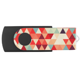 Pretty Triangle pattern II + your ideas USB Flash Drive