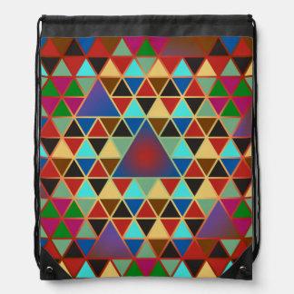 Pretty Triangle pattern III + your ideas Drawstring Bag
