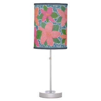 Pretty Tropical Floral Pattern Lamp