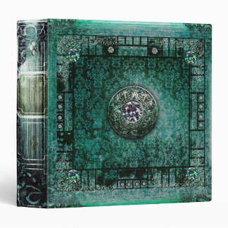 Pretty Turquoise Ancient Tome Medieval Magic Book Binder