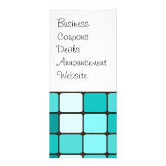 Pretty Turquoise Aqua Teal Mosaic Tile Pattern Full Color Rack Card