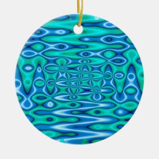 pretty turquoise blue art ceramic ornament