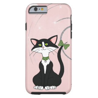 Pretty Tuxedo Female Cat W/Green Eyes Tough iPhone 6 Case