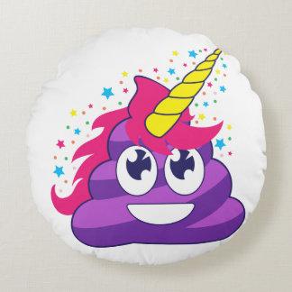 Pretty Unicorn Poop Round Pillow