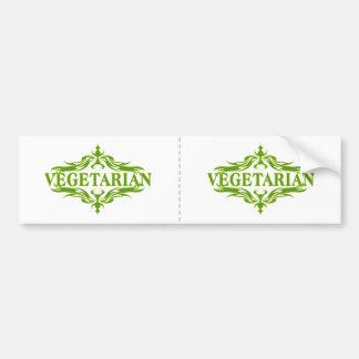 Pretty Vegetarian Design Bumper Sticker