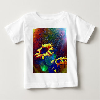Pretty Vibrant Artistic Sunflowers Baby T-Shirt