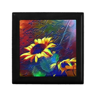 Pretty Vibrant Artistic Sunflowers Gift Box